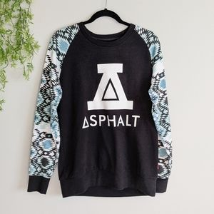 (Asphalt) Yacht Club Black Sweatshirt Large